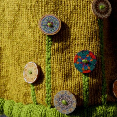 détail boutons robe automne