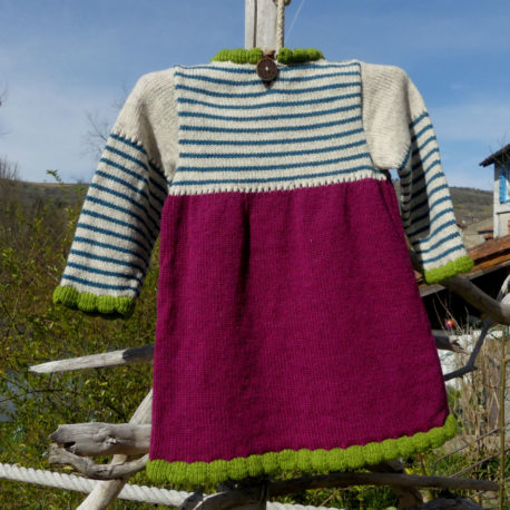Robe Shanna couleur confiture de rose dos
