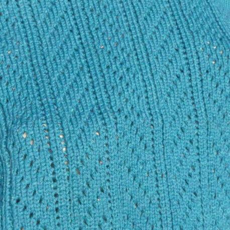Détail couverture bébé bleu