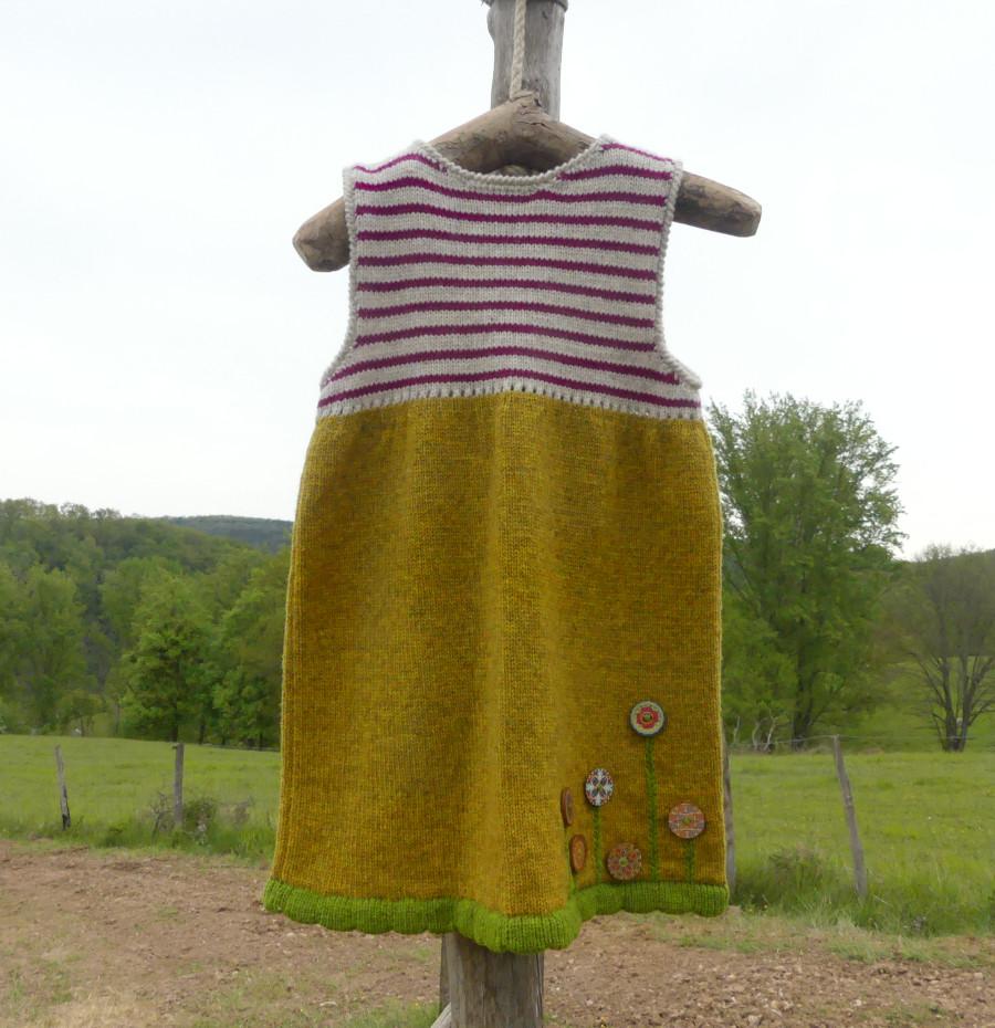 Robe sans manche laine