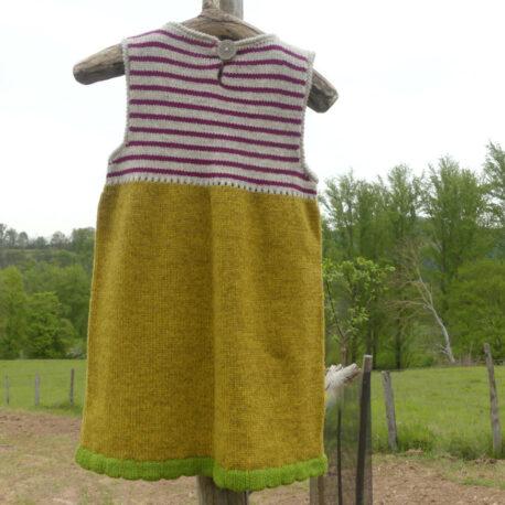 Dos robe sans manche